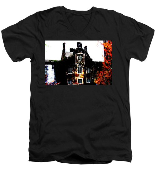 Men's V-Neck T-Shirt featuring the photograph Adare Manor by Charlie and Norma Brock
