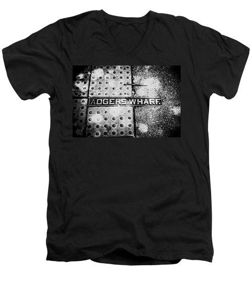 Men's V-Neck T-Shirt featuring the photograph Adgers Wharf by Sennie Pierson