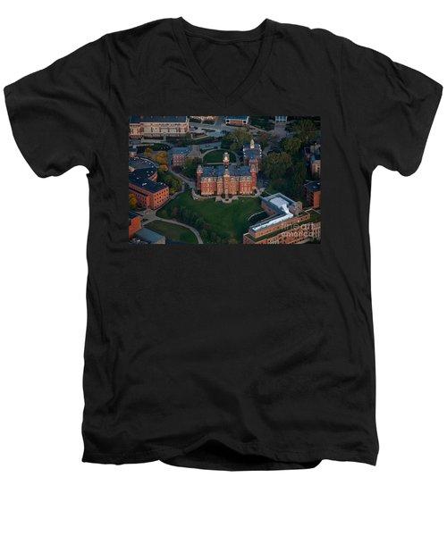 Aerial Of Woodburn Hall Men's V-Neck T-Shirt by Dan Friend