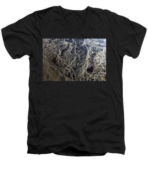 Men's V-Neck T-Shirt featuring the photograph Aerial Photography by Gunnar Orn Arnason