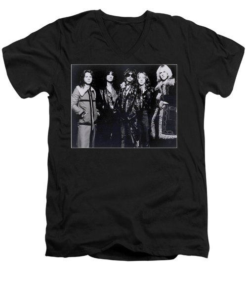 Aerosmith - America's Greatest Rock N Roll Band Men's V-Neck T-Shirt by Epic Rights