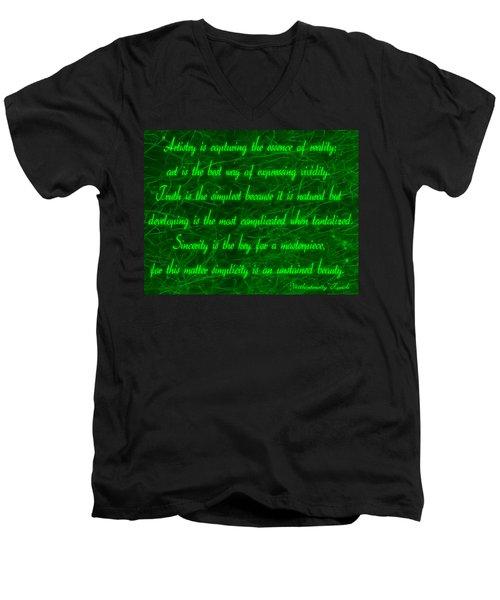 Aesthetic Quote 1 Men's V-Neck T-Shirt