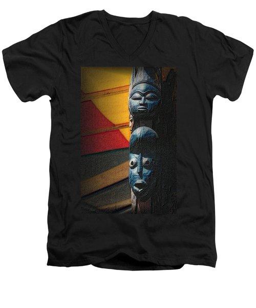 African Masks Men's V-Neck T-Shirt
