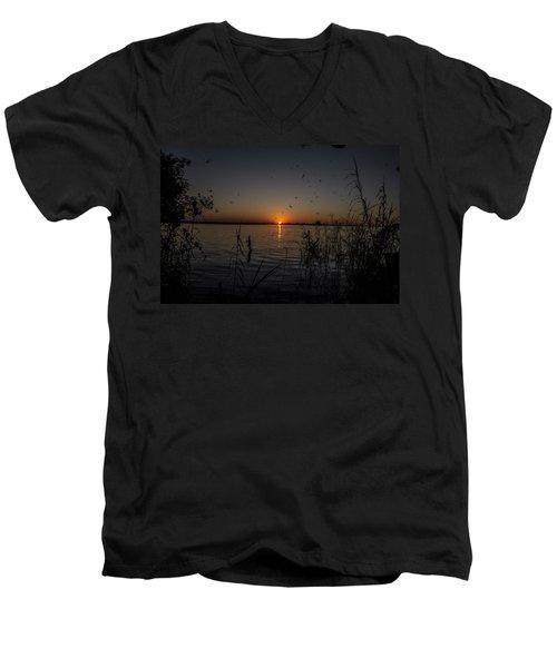 African Sunset Men's V-Neck T-Shirt