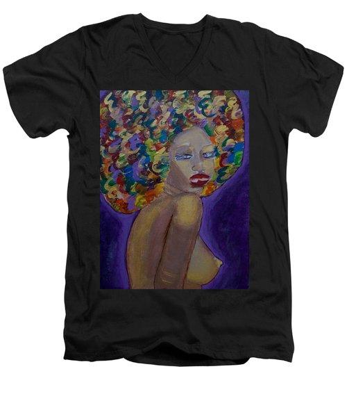 Afro-chic Men's V-Neck T-Shirt