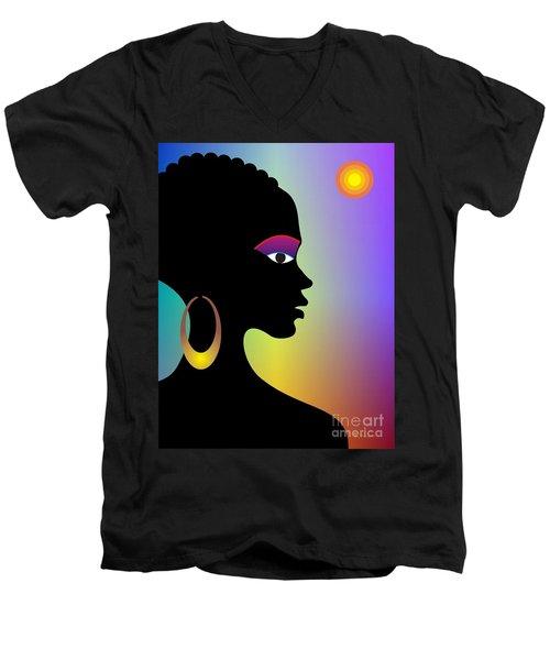 Afroette Men's V-Neck T-Shirt