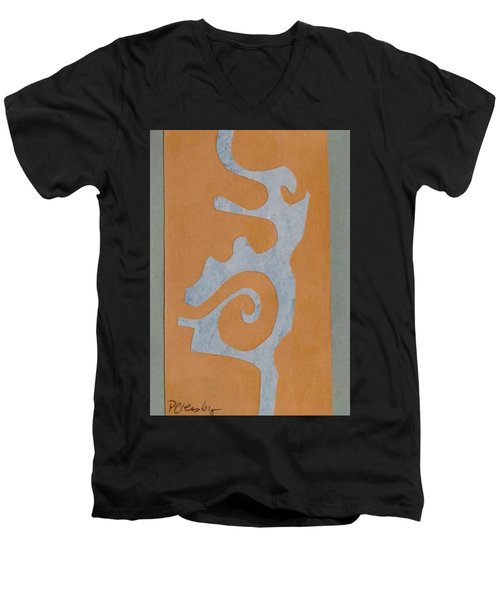 Swirl  Men's V-Neck T-Shirt by Patricia Cleasby