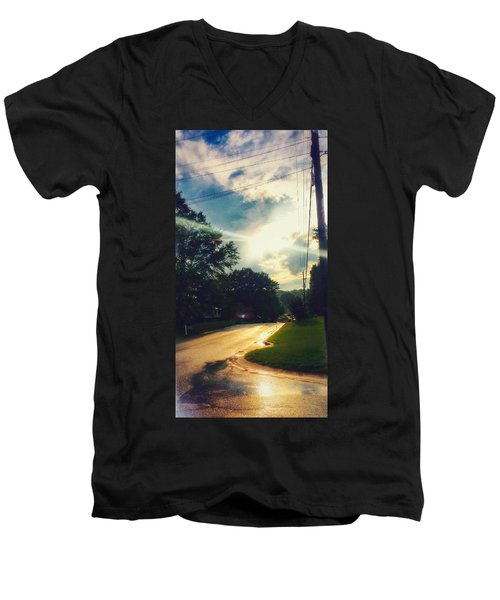 After Rain Men's V-Neck T-Shirt