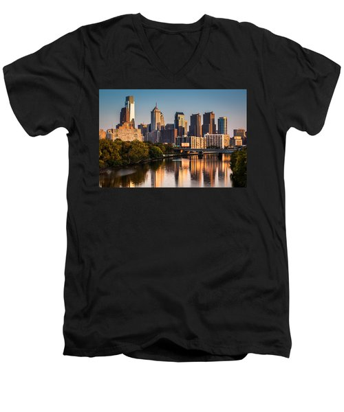 Afternoon In Philly Men's V-Neck T-Shirt