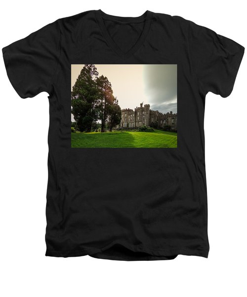 Afternoon Sun Over Markree Castle Men's V-Neck T-Shirt