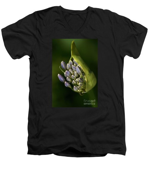 Men's V-Neck T-Shirt featuring the photograph Agapanthus by Joy Watson