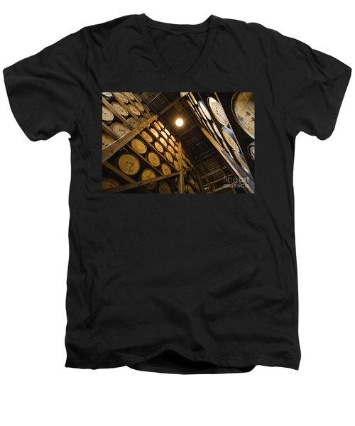Aging - D008622 Men's V-Neck T-Shirt by Daniel Dempster