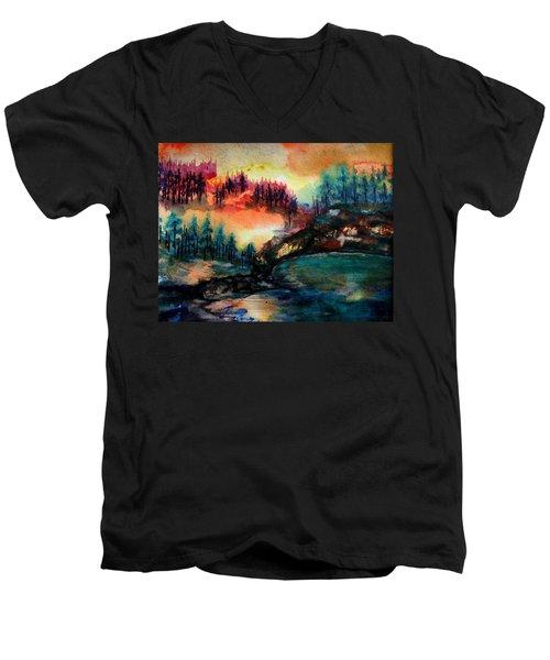 Aglow Men's V-Neck T-Shirt
