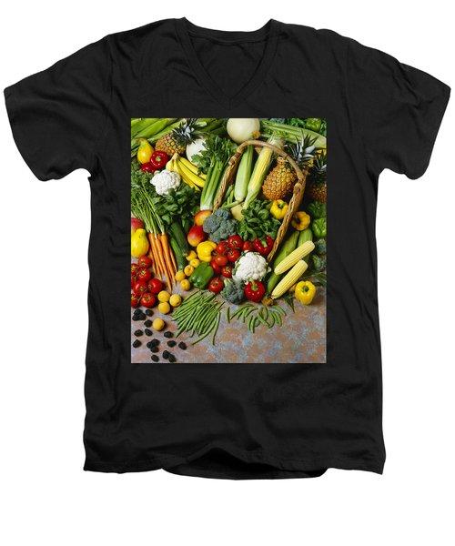 Agriculture - Mixed Fruit Men's V-Neck T-Shirt