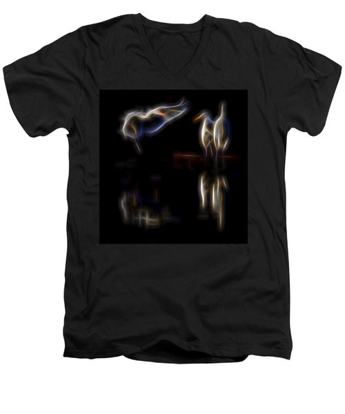 Air Elementals 1 Men's V-Neck T-Shirt by William Horden