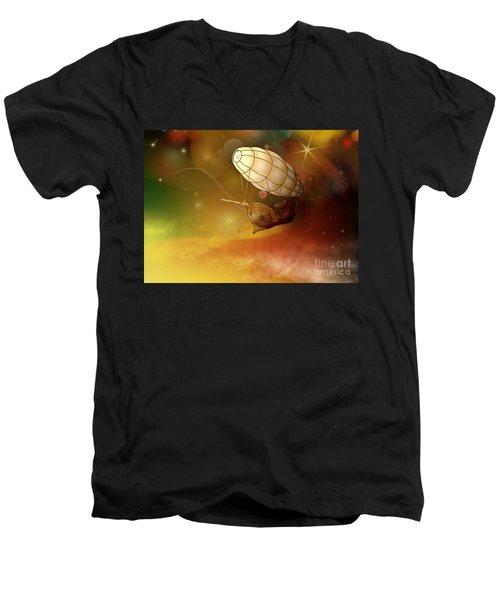 Airship Ethereal Journey Men's V-Neck T-Shirt