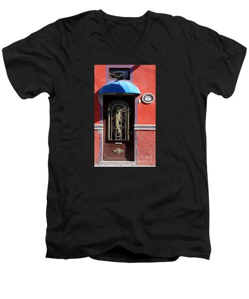 Ajijic Door #8 Men's V-Neck T-Shirt