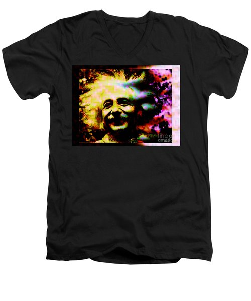 Albert Einstein - Why Is It That Nobody Understands Me - Yet Everybody Likes Me Men's V-Neck T-Shirt