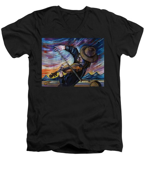 Alberta Fiddle Men's V-Neck T-Shirt