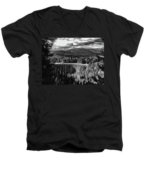 Alder Dam Near Mt Rainer Wa Men's V-Neck T-Shirt