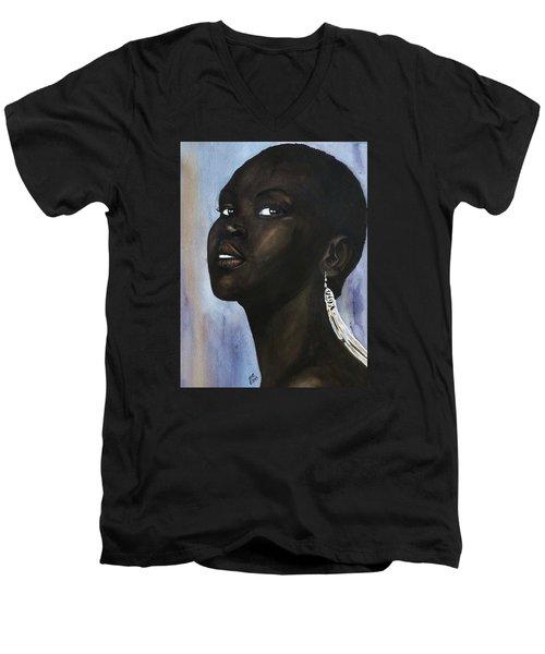 Alek Wek Men's V-Neck T-Shirt