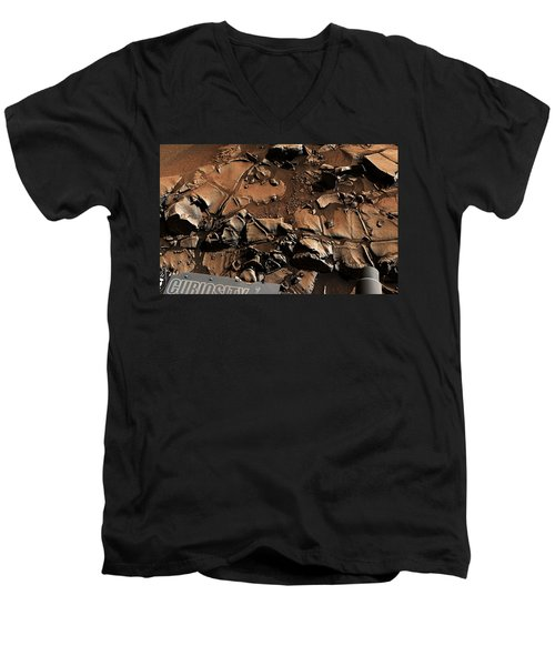Alexander Hills Bedrock In Mars Men's V-Neck T-Shirt
