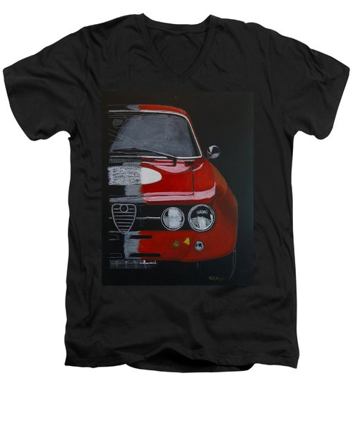 Alfa Romeo Gtv  Men's V-Neck T-Shirt