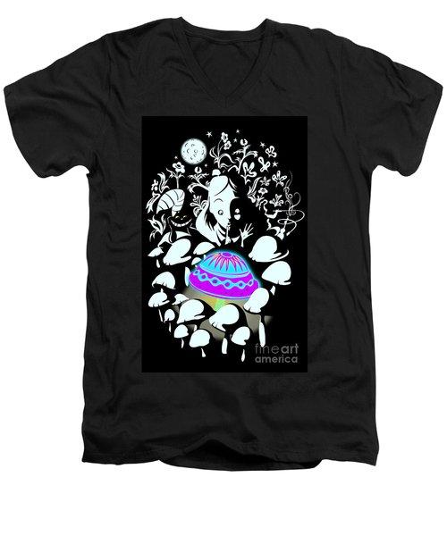 Alice's Magic Discovery Men's V-Neck T-Shirt