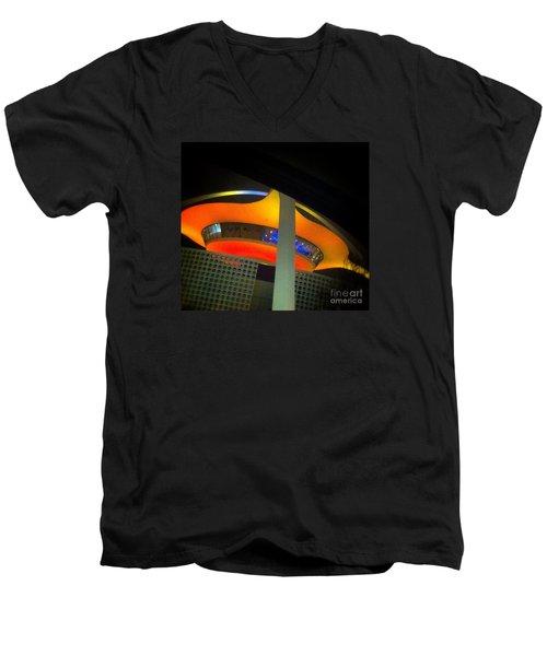 Alien Space Ship Landed Men's V-Neck T-Shirt by Susan Garren
