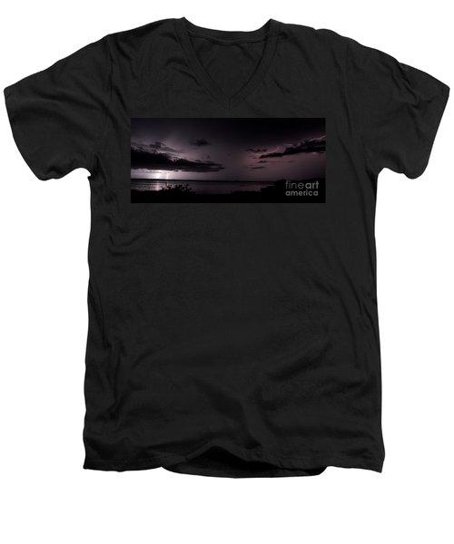 All Around Men's V-Neck T-Shirt by Quinn Sedam