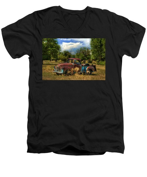 All By Myself Men's V-Neck T-Shirt by Ken Smith