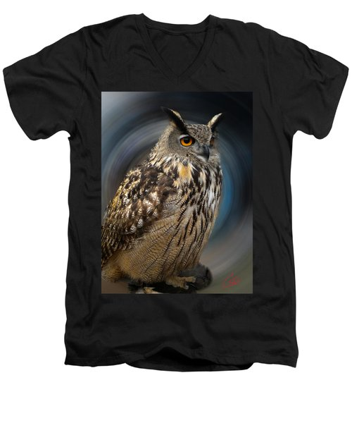 Almeria Wise Owl Living In Spain  Men's V-Neck T-Shirt