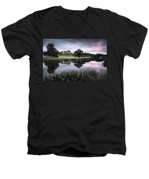Alnwick Castle Sunset Men's V-Neck T-Shirt