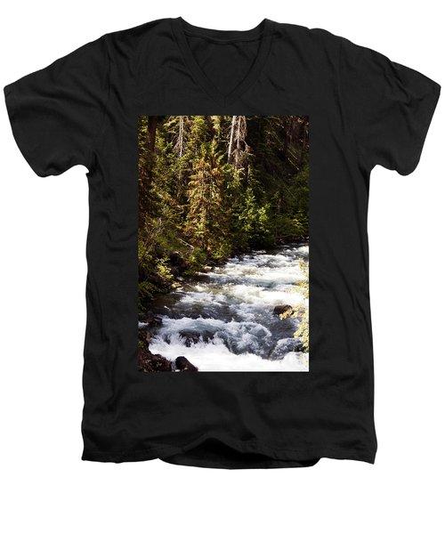 Along American River Men's V-Neck T-Shirt