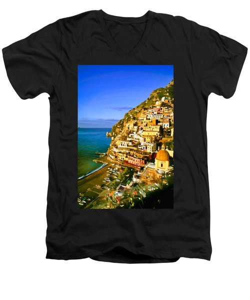 Along The Amalfi Coast Men's V-Neck T-Shirt