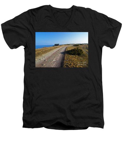 Along The Coast Of Baltic Sea Men's V-Neck T-Shirt by Kennerth and Birgitta Kullman