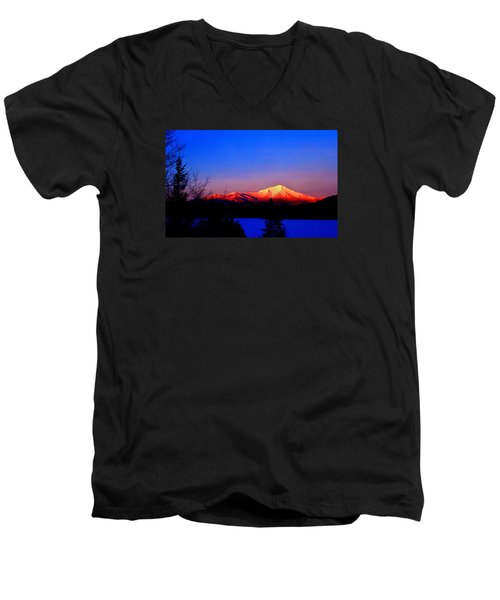Alpenglow-whiteface Mt. Men's V-Neck T-Shirt