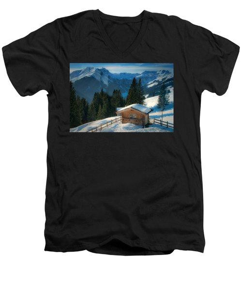 Alpine View Men's V-Neck T-Shirt