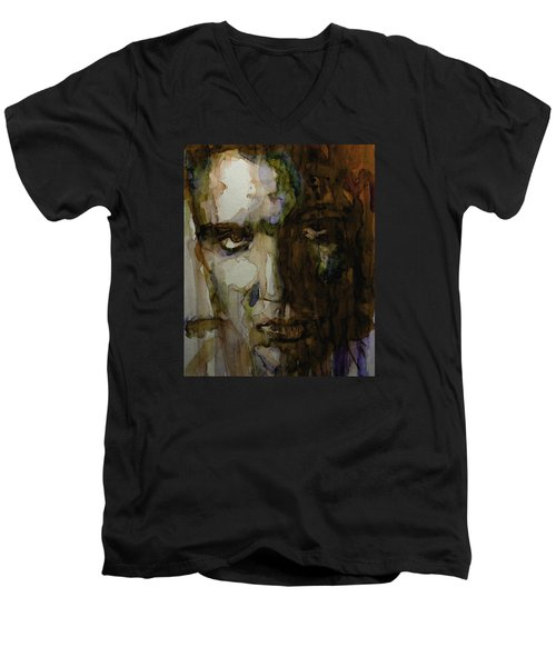 Always On My Mind Men's V-Neck T-Shirt by Paul Lovering