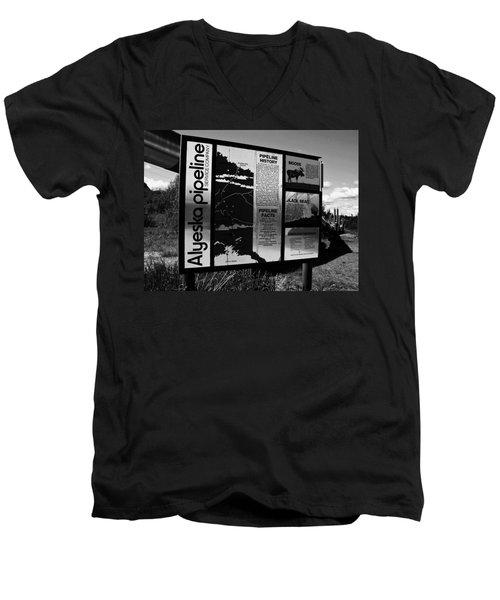 Alyeska Pipeline Men's V-Neck T-Shirt by Juergen Weiss