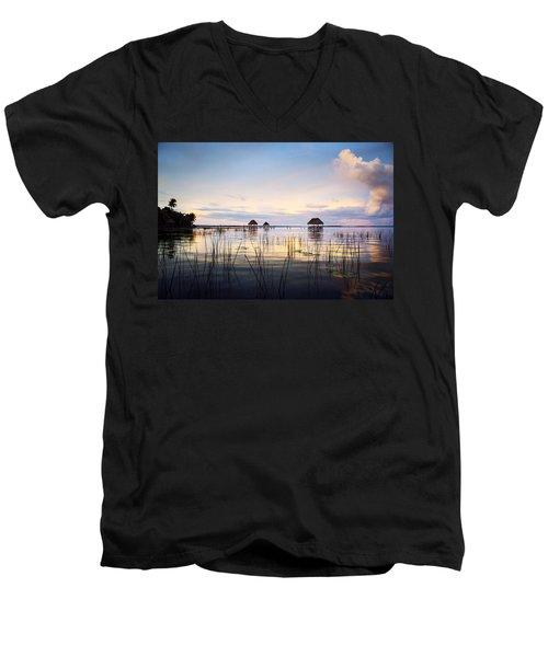 Amazing Bay Sunset Men's V-Neck T-Shirt