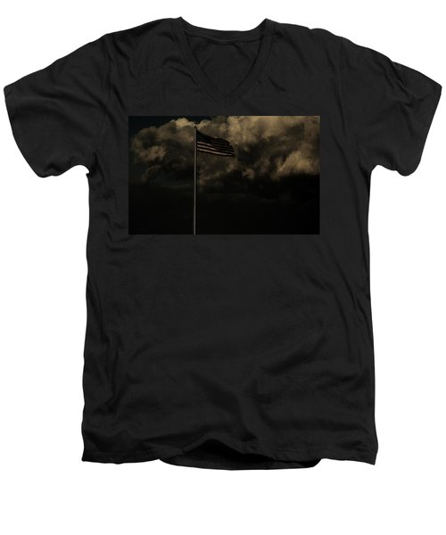 Men's V-Neck T-Shirt featuring the photograph America....... by Jessica Shelton