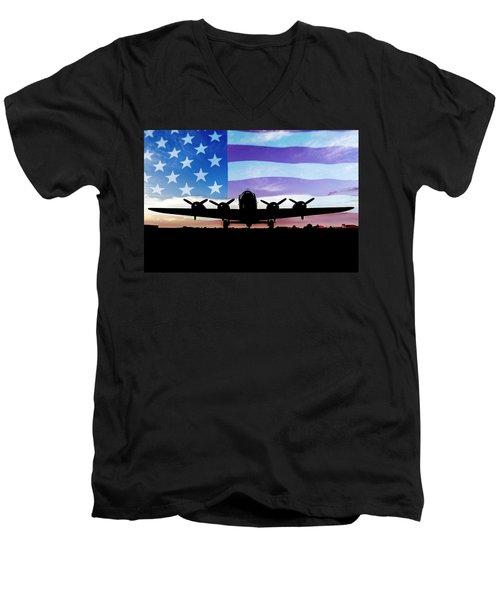 American B-17 Flying Fortress Men's V-Neck T-Shirt