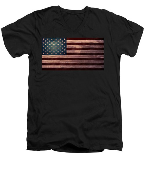 American Flag I Men's V-Neck T-Shirt