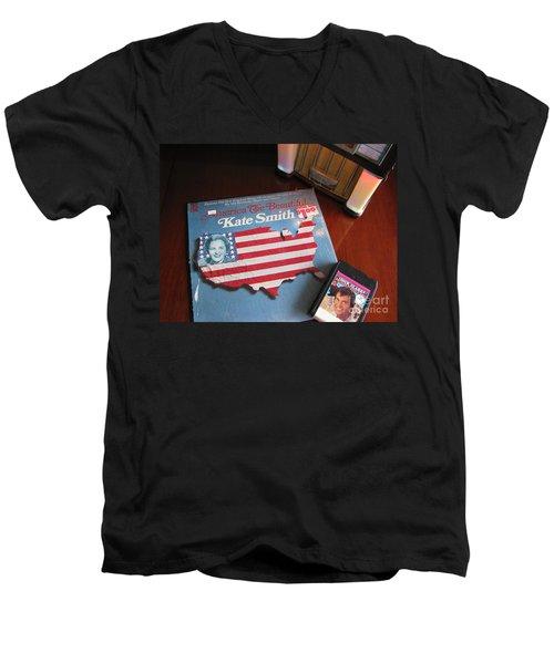 Men's V-Neck T-Shirt featuring the photograph American Music by Michael Krek