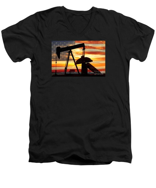 American Oil  Men's V-Neck T-Shirt