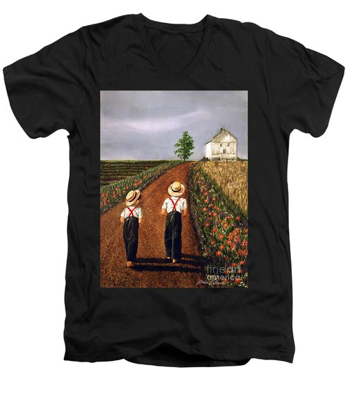 Amish Road Men's V-Neck T-Shirt