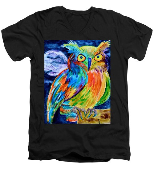 Ampersand Owl Men's V-Neck T-Shirt
