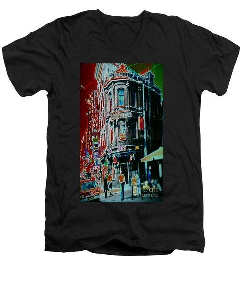 Amsterdam Abstract Men's V-Neck T-Shirt