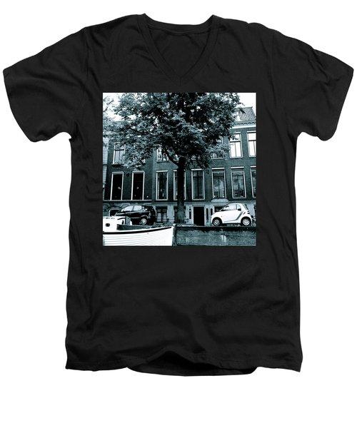Amsterdam Electric Car Men's V-Neck T-Shirt by Cheryl Miller
